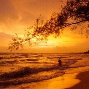 Coucher de soleil, Cambodge