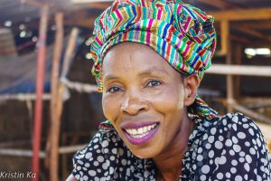 Femme, sourire, foulard, Livingstone, Zambie