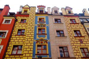 Gdansk, façades baroques, Pologne