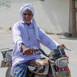 Homme sourire, turban, Iran
