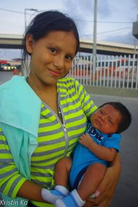 Jeune maman, Panama
