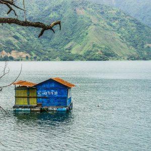 Lago Attitla, maison, Guatemala