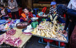 Marché de Phnom Penh, Nourriture, Cambodge
