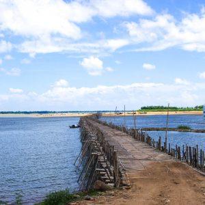 POnt de bambou, Kompong Cham, Cambodge