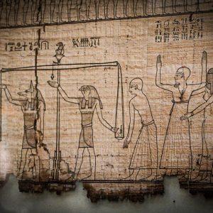 Pesée du coeur, papyrus