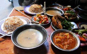 Repas complet chez Karim, le caire, Egypte_