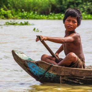 Tonlé Sap, garcon, Cambodge