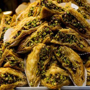 Baklavas, patisserie turque, nourriture, Turquie