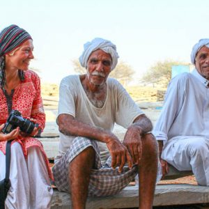 Hommes sourire, turban, Sud Iran