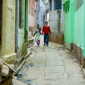 Rue de Varanasi, Inde