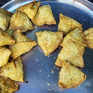 Samoussas, nourriture, Udaipur, Inde