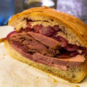 Sandwich au jambon lima