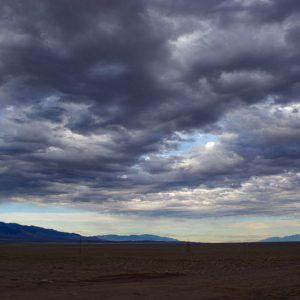 Vers Bulgan, paysage, ciel, Mongolie