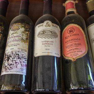 Vin, bouteille, nourriture, Géorgie